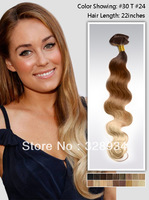 18-24 inch three tone Ombre hair wavy Indian Remy hair top quality clip in human hair extension 115g free shipping usw152