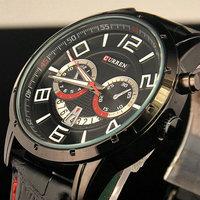 Curren quartz Calendar Vogue Business Man Men's watches with Genuine Leather band 3ATM waterproof ,Dropship Relogio