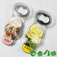 Creative slippers magnetic stickers, fridge magnet bottle opener