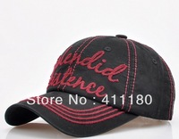 Fashion Cotton Baseball Cap Washed Cotton Embroidery Cap and Hat, 1 pcs/lot. Free shipping