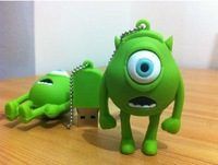 Big Green Eyes USB Flash Memory Pen Drive Stick, free shipping 1GB 2GB 4GB 8GB 16GB 32GB