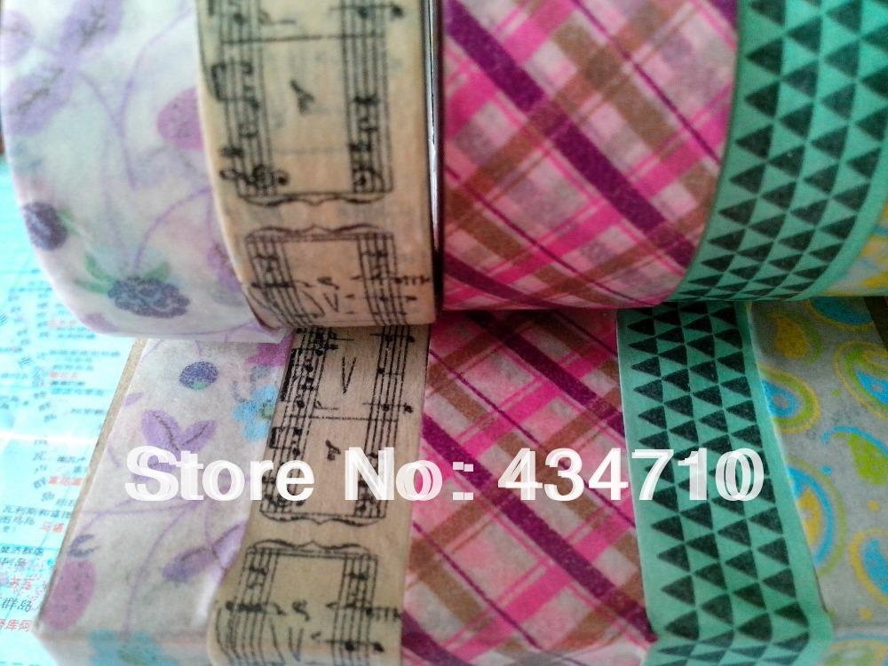 Hot!!!Classic design Washi tape ! Wholesale (30 pcs/Lot,80colors) Cute 15mmx10m colorful masking Tape Free Shipping(China (Mainland))