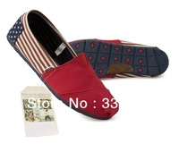 Free Shipping SUMMER Flag canvas shoes Classic canvas shoes Very good quality!!