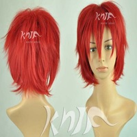 Free shipping 30cm women short auburn anti-alice wig japanese anime cosplay wigs