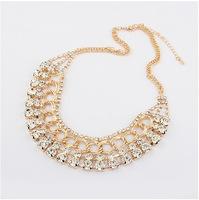 Free Shipping Trendy Rhinestone Luxury Choker Statement Necklaces 2014 New Fashion Jewelry Necklaces & pendants Wholesale