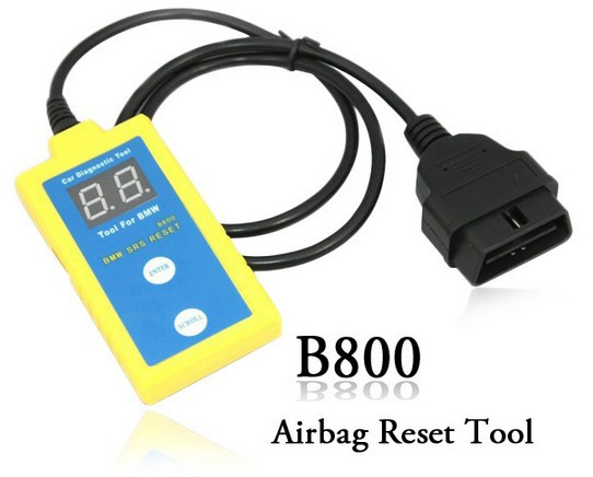 """Freet Shipping by DHL for B800 Airbag Scanner Airbag Reset Tool for B.M.W (Displays all SRS fault codes Reset the """"SRS"""" Light )(China (Mainland))"""