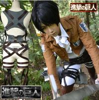 Shingeki no Kyojin Attack on Titan Eren Jaeger/Mikasa Ackerman Survey corps cosplay costume