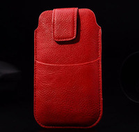 HKP ePacket Free Shipping with credit card bag Leather Pouch phone bags cases for xiaomi mi 2 2s Cell Phone Accessories