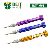 free shipping 1piece BEST-665 5 in 1 precision screwdriver set specialized in cell phone opening for samsung iphone4 4s 5