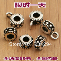 freeshipping 925 pure silver thai   septate gasket bead accessories parts