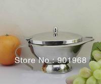 Home restaurant hotel bar dinner ware 420ml stainless steel steak sauce bowl holder with lid cover