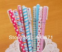 New 10 pcs/set flower happy day gel ink pen / Fashion pen with PVC packaging / Wholesale