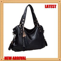 2013  Famous Design Latest Casual High Guality  Ladies Handbag Women's Ttassels Shoulder Bag Wholesale