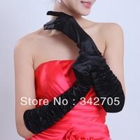 2014 Black Women Elbow Finger Gloves Accessories Bridal Evening Dress Wedding Accessories Casamento Bridal Gloves+ Free Shipping