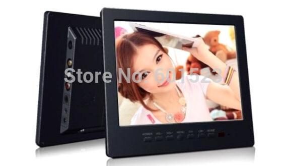 "Free shippig 8"" colorful Portable TFT LCD Monitor Car TV Television VGA input L8009 Fast Dispatch(China (Mainland))"