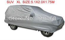 SUV XL 5.1*2.1*1.75M big size Car covers for Toyota LAND CRUISER Volvo Subaru SUV Resist snow car cover waterproof(China (Mainland))