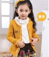Autumn winter new 2013 good quality baby girl princess fashion children sweater clothes girls cardigan kids outerwear clothing