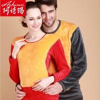 Ashima golden flower thermal underwear set plus velvet thickening limited edition