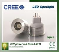 MR11 3W LED spotlight DC 12V AC 12V 35mm diameter mini led bulb lamp for home lighting free shipping 5pcs/lot