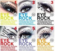 New Fashion Eye Tattoo Black Eyeliner Sticker Transfer Eyeshadow Stickerwith rhinstone Free Shipping