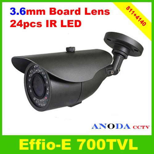 Surveillance Camera SONY EFFIO-E 700TVL OSD Menu 24 leds Outdoor Weatherproof CCTV Camera(China (Mainland))