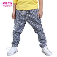 Good quality boy Free Shipping  Rocky Style Autumn Children Boys  Linen Cotton 1322532 Long Harem Pants  Boys Autumn Trousers