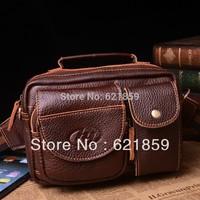 Cross section imported leather bag Men shoulder bag Leather wallet His men's bags