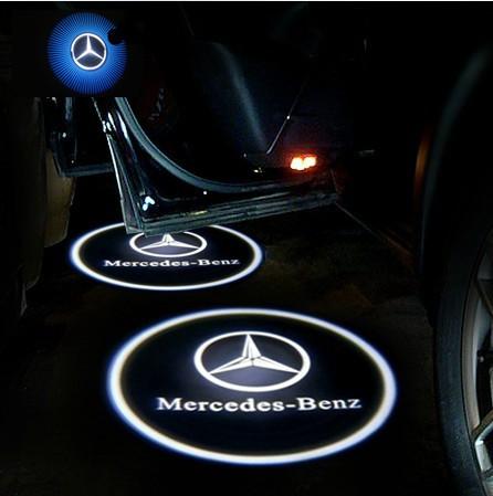Free Shipping Mercedes Benz Logo Car Led Emblem Welcome
