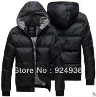 Free shipping 2013 Winter New Men Outdoor Sports Coat Fashion Thickening Cotton-padded Clothes Jacket Parkas