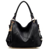 2013 Fashion Genuine Leather Bag Cowhide Women's Tassel Bag Shoulder Bag Vintage Handbag 4 Colors Gift