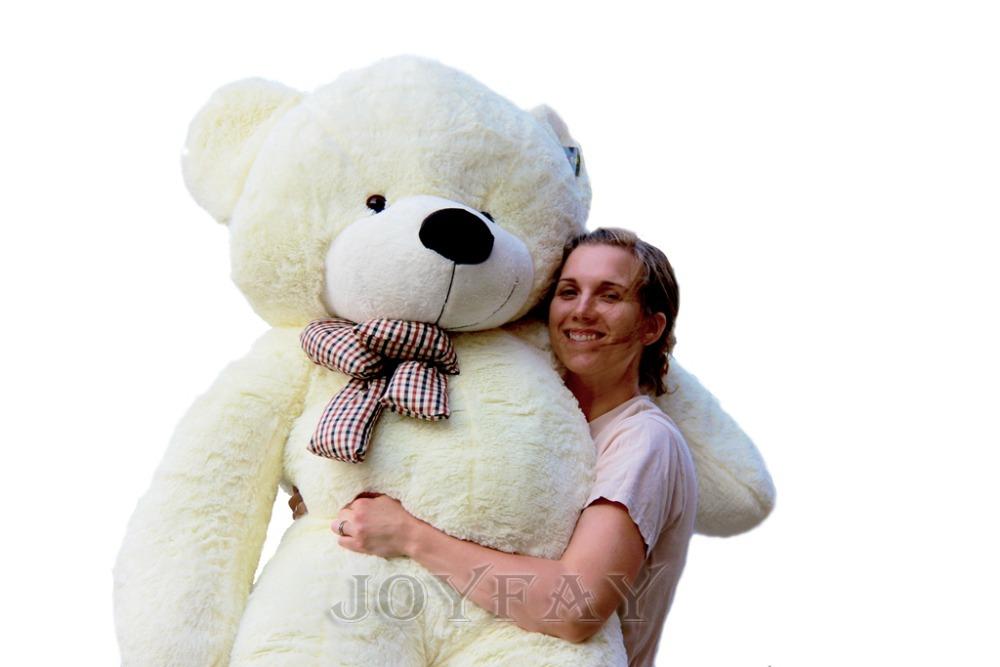 Joyfay Giant Teddy Bear 78'' 200cm 2m Stuffed Plush Animals Soft Toys Best Valentine Gift for Lover Girlfriend(China (Mainland))
