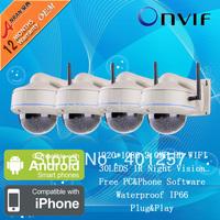 4PCS Sony Sensor 2.0 Megapixel 1080P HD Waterproof Vandalproof Wireless WIFI Network IP Camera Surveillance CCTV Security Camera