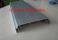 12cmx2.5cmx6m aluminium snap profile for led light box