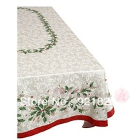 4PCS/LOT FREE SHIPPING 2013 new LENOX christmas rectangle round  table cloth table runner table napkin placemat TBC05