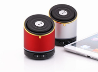 Mini Stereo Wireless Bluetooth Speaker For Cell Phone Tablet PC TF Card Music Metal Speaker to use in Car Outdoor with Mic
