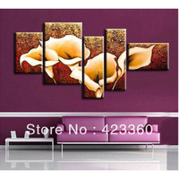 The Calla Lily ,Top Quality Oversized Handmade Modern Abstract Oil Painting On Canvas Wall Art ,Edays Home Decoration,HN090901