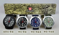 New Military Men Swiss Army Pilot General Canvas Belt Luminous Watch With Week Calendar Sports Watch Best Gift Free Shipping