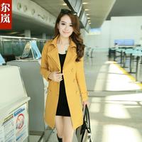 Autumn outerwear  New 2014 women's medium-long Coat ladies outerwear spring and autumn slim  the female feminino Jackets