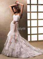 Wholesale - 2013 New Sweetheart Ribbon Belt Mermaid Organza Layered Lavishly Wedding Dresses Bridal Dresses ABC8