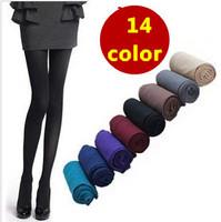 2014 New Fashion r Woman 120D All-Match Super Pantyhose Velvet Candy Color Socks 14 Colors