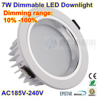 Free shipping 24 pcs/lot LED Downlight Dimmable 7W Led ceiling lamp kitchen cabinet lights