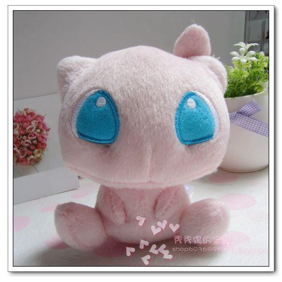 "Free Shipping Japanese Anime Pokemon Mew Plush Toy 5"" Soft Stuffed Animals Plush Doll(China (Mainland))"
