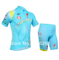 Free Shipping 2013 Astana Cycling Jersey and Cycling shorts and Accessories Cycling Team J9100553