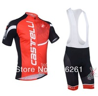 Free Shipping 2013 Castelli Cycling Jersey and Bib Shorts and Accessories Cycling Team J9100556
