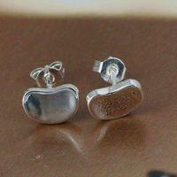 E059 Wholesale 925 silver earrings, 925 silver fashion jewelry, Bean Earrings