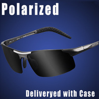 Free Shipping, New Black Bulletproof Polarized Sunglasses Men's Driving Sports Polarized Glasses