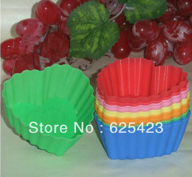 Hot Sale ! 3 Packege Atacado resistente à alta temperatura de sílica gel Símbolo do Coração Bolo gel de sílica Mold Cavalo Copa Jelly Mold(China (Mainland))