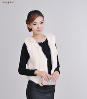 2013 Lengthen rabbit fur vest autumn and winter fur vest waistcoat