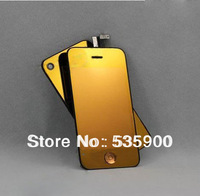 New Arrival Mirror Colorful Front LCD Display Assembly Touch Screen + Back Battery Cover + Back Home Button For Iphone 4 4s