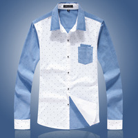 2013 New Arrival Men's Casual Slim Fashion Shirt Colorful Shirt For Teenager Free Shiping MCL156